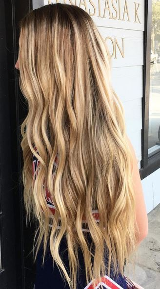 Mane Interest Long Blonde Balayage Highlights Mermaid Hair